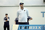 27 January 2017: Notre Dame head coach Ryan Sachire. The University of North Carolina Tar Heels hosted the University of Notre Dame Fighting Irish at the Cone-enfield Tennis Center in Chapel Hill, North Carolina in the first round of the Intercollegiate Tennis Association Men's Indoor Team Championship. North Carolina won the match 4-0.