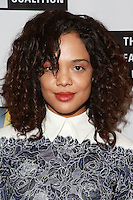 LOS ANGELES, CA, USA - OCTOBER 21: Tessa Thompson arrives at The Creative Coalition's 'Art of Discovery' Los Angeles Launch Party held at the Home of Lawrence Bender on October 21, 2014 in Los Angeles, California, United States. (Photo by David Acosta/Celebrity Monitor)