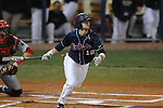 Ole Miss' Tanner Mathis (12) grounds out in the first inning at Oxford-University Stadium in Oxford, Miss. on Wednesday, March 9, 2010.