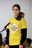 NO FEE PICTURES.8/3/12 Monica Czarmamska, St Attracta's NS, Ballinteer, taking part in the Dublin County final, part of the overall Eason 2012 Spelling Bee, held at St Olaf's NS, Dundrum. .For further details visit www.easons.com/spellingbee and stay tuned to RTE 2fm. Picture:Arthur Carron/Collins