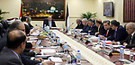 Palestinian Prime Minister Rami hamdallah heads a meeting of council of Ministers in the West Bank city of Ramallah on April 03, 2017. Photo by Prime Minister Office
