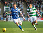 St Johnstone v Celtic&hellip;.McDiarmid Park, Perth.. 11.05.16<br />David Wotherspoon and Emilio Izaguirre<br />Picture by Graeme Hart.<br />Copyright Perthshire Picture Agency<br />Tel: 01738 623350  Mobile: 07990 594431