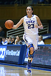 30 October 2014: Duke's Rebecca Greenwell. The Duke University Blue Devils hosted the Limestone College Saints at Cameron Indoor Stadium in Durham, North Carolina in an NCAA Women's Basketball exhibition game. Duke won the game 100-33.