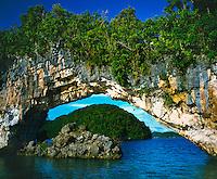 Rock Islands Arch, Rock Islands National Park,.Republic of Palau, Micronesia