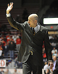 "Mississippi head coach Andy Kennedy reacts against Coastal Carolina at the C.M. ""Tad"" Smith Coliseum in Oxford, Miss. on Tuesday, November 13, 2012. Mississippi won 90-72. (AP Photo/Oxford Eagle, Bruce Newman)"