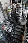 Kegs are seen stacked in a stairwell next to a bar off of Temple Bar Street in Dublin, Ireland on Saturday, June 22nd 2013. (Photo by Brian Garfinkel)