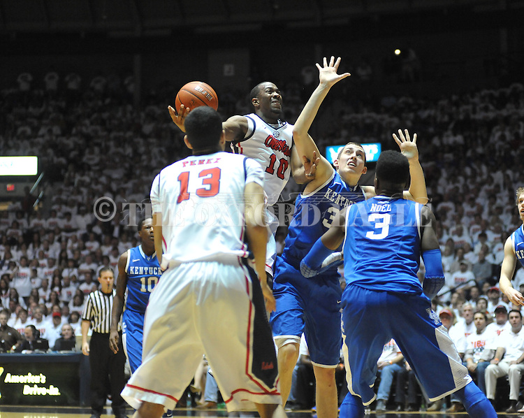 "Ole Miss vs. Kentucky at the C.M. ""Tad"" Smith Coliseum on Tuesday, January 29, 2013.  (AP Photo/Oxford Eagle, Bruce Newman).."