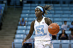 04 November 2015: North Carolina's Destinee Walker. The University of North Carolina Tar Heels hosted the Wingate University Bulldogs at Carmichael Arena in Chapel Hill, North Carolina in a 2015-16 NCAA Women's Basketball exhibition game. UNC won the game 86-84.