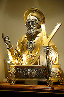 16th century statue of Saint Andreas (Andrew ) Amalfi Cathedral, Italy
