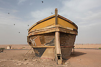 Morocco - Ouarzazate - Located within the Atlas Corporation Studios, this boat was used for the movie Cleopatra.
