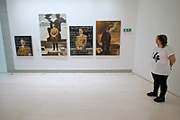 Athens, Greece. Opening days of documenta14.<br /> EMST, National Museum Of Contemporary Art.<br /> Piotr Uklański and McDermott &amp; McGough: The Greek Way.