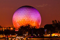 Spaceship Earth (geosphere), Epcot, Walt Disney World, Orlando, Florida USA