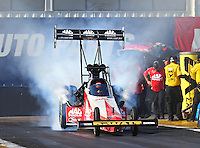Feb 28, 2016; Chandler, AZ, USA; NHRA top fuel driver Doug Kalitta during the Carquest Nationals at Wild Horse Pass Motorsports Park. Mandatory Credit: Mark J. Rebilas-