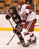 Mike Jamieson (NU - 24), Clay Anderson (Harvard - 5) - The Harvard University Crimson defeated the Northeastern University Huskies 4-3 in the opening game of the 2017 Beanpot on Monday, February 6, 2017, at TD Garden in Boston, Massachusetts.