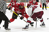 Ryan Lough (SLU - 10), John Marino (Harvard - 12) - The Harvard University Crimson defeated the St. Lawrence University Saints 6-3 (EN) to clinch the ECAC playoffs first seed and a share in the regular season championship on senior night, Saturday, February 25, 2017, at Bright-Landry Hockey Center in Boston, Massachusetts.