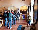Visitors hoping to taste the wine at Barboursville Vineyards must first purchase a tasting at the register near the entrance.  Visitors can also buy the wine at the same desk.  At the entrance to Barboursville Vineyards' tasting room.