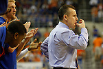 UF Head Coach Billy Donovan during the first half of the University of Kentucky vs. University of Florida men's basketball game at the O'Connell Center in Gainesville, Fl., on Tuesday, February 12, 2013. UK lost 69-52. Photo by Tessa Lighty | Staff