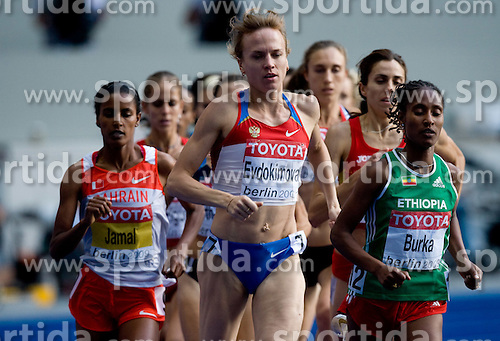 Natalya Evdokimova of Russia  and Gelete Burka of Ethiopia competes in  the women's 1500m Final during the day nine of the 12th IAAF World Athletics Championships at the Olympic Stadium on August 23, 2009 in Berlin, Germany. (Photo by Vid Ponikvar / Sportida)