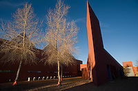 The College of Santa Fe and home of the Santa Fe Art Institute as designed by Mexican architect Ricardo Legorreta, Santa Fe, N.M. (Kevin Moloney for the New York Times)
