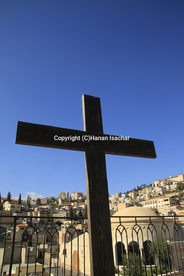 Israel, a view of Nazareth from Mary of Nazareth International Center