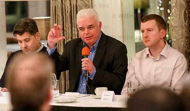 Rangers First AGM, Sherbrooke Hotel Glasgow.<br /> Greg Marshall, James Blair and Peter Ewart