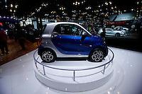 The Smart 2015 is displayed during the International Auto Show 2015 in New York. 04.06.2015. Eduardo MunozAlvarez/VIEWpress.