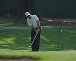 Golfer Frank Lickliter chips on the 2nd hole at the PGA FedEx St. Jude Classic at TPC Southwind in Memphis, Tenn. on Thursday, June 9, 2011.