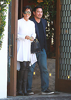 AUG 27 Kris Jenner and Dean Cain Seen Leaving Cecconi's