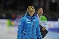 SCHAATSEN: HEERENVEEN: 26-12-2013, IJsstadion Thialf, KNSB Kwalificatie Toernooi (KKT), Marianne Timmer (trainer/coach Team LiGA), ©foto Martin de Jong