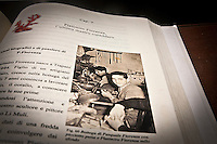 una foto tratta da un libro che ritrae l'esordio in bottega dell'artigiano del corallo Platimiro Fiorenza, recentemente iscritto dall&rsquo;UNESCO fra i Tesori Umani Viventi nel Libro dei Saperi del Registro delle Eredit&agrave; Immateriali, per la sua antica e prestigiosa tradizione artigiana.<br /> A photo from a book portrays the beginning of the activity of Platimiro Fiorenza, artisan working coral , recently registered with the UNESCO Living Human Treasures in the Book of Knowledge of the Register of Intangible Heritage, for his ancient and prestigious tradition of craftsmanship