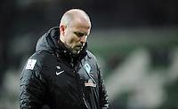 FUSSBALL   1. BUNDESLIGA    SAISON 2012/2013    14. Spieltag   SV Werder Bremen - Bayer 04 Leverkusen                28.11.2012 Trainer Thomas Schaaf (SV Werder Bremen) ist nach dem Abpfiff enttaeuscht