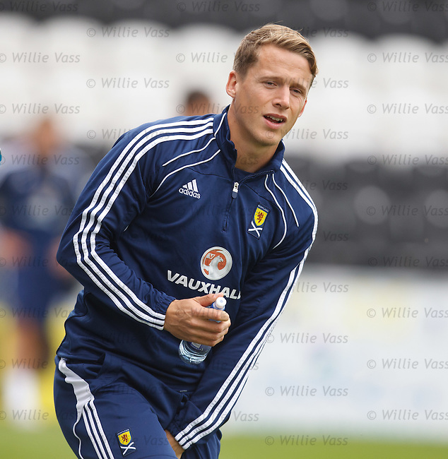 Christophe Berra at Scotland training