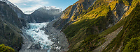 Fox Glacier from Challet Lookout, Westland  Tai Poutini National Park, West Coast, UNESCO World Heritage Area, New Zealand, NZ