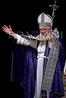 Celebration penance sacrament Pope Benedict XVI, in Saint Peter's Basilica the Vatican.March 29,2007