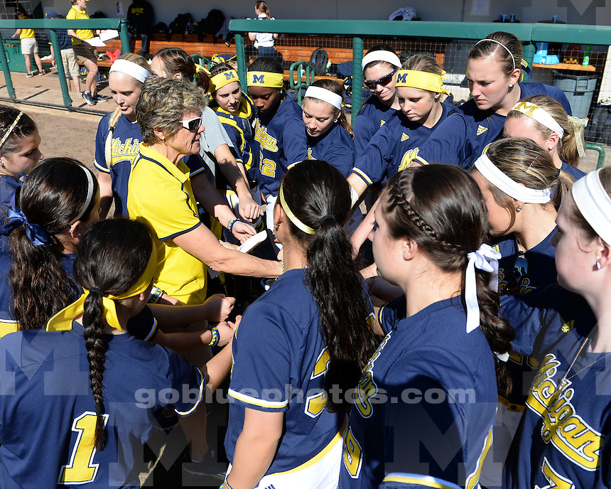 The University of Michigan softball team defeats Bethune-Cookman, 12-1, at the USF Softball Stadium in Tampa, Fla., on Feb. 9, 2014.