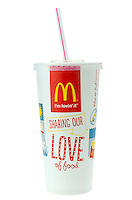 McDonald's Cola Drink with Straw - Jan 2014.