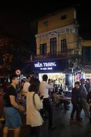 Hanoi's Old Town at night , January 2016.