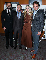 LOS ANGELES, CA, USA - OCTOBER 27: AJ Edwards, Wes Bentley, Brit Marling, Jason Clarke arrive at the Los Angeles Premiere Of Amplify's 'The Better Angels' held at the Directors Guild Of America on October 27, 2014 in Los Angeles, California, United States. (Photo by Xavier Collin/Celebrity Monitor)