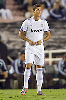 Cristiano Ronaldo of Real Madrid enters the field. Real Madrid beat the LA Galaxy 3-2 in an international friendly match at the Rose Bowl in Pasadena, California on Saturday evening August 7, 2010.
