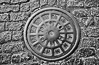 Manhole cover, Manhattan, New York City, NY,  cobblestones
