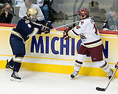 Ryan Thang (Notre Dame 9), Matt Greene (BC 14) - The Boston College Eagles won the NCAA D1 national championship by defeating the University of Notre Dame Fighting Irish 4-1 in the final of the 2008 Frozen Four at the Pepsi Center in Denver, Colorado on Saturday, April 12, 2008.