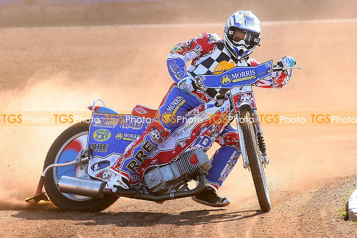 David Mason of Hackney Hawks in riding action - Hackney Hawks Speedway Press & Practice Day at Arena Essex Raceway, Purfleet, Essex - 23/03/11 - MANDATORY CREDIT: Gavin Ellis/TGSPHOTO - Self billing applies where appropriate - Tel: 0845 094 6026