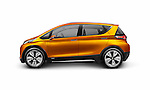 2015 Chevrolet Bolt EV concept electric car side view isolated on white background with clipping path