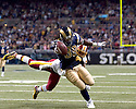 September, 26, 2010 - St Louis, MO - St. Louis running back Steven Jackson (39) scores on a 42 yard run in the game between the St. Louis Rams and the Washington Redskins at the Edward Jones Dome.  The Rams defeated the Redskins 30 to 16.