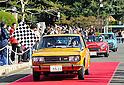 November 27, 2011, Tokyo, Japan - A 1971 Datsun Bluebird 1800SSS and a 1968 Datsun 200 Sports, both of Japan, participate in the fifth Classic Car Festa 2011 in Tokyo on Sunday, November 27, 2011. Some 43,000 spectators watch about 100 domestic and foreign classic and vintage cars parade the gingko-lined streets of the Meiji Shrines Outer Garden in the annual open-air exhibition and parade sponsored by Toyota Automobile Museum. (Photo by Natsuki Sakai/AFLO) [3615] -mis-