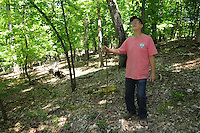 NWA Democrat-Gazette/FLIP PUTTHOFF <br /> Bill Mills is on a healthy track after years of hiking after injury left him inactive. &quot;I wouldn't be here today without it,&quot; says Mills, who lives in the Beaver Shores community east of Rogers. Here he hikes in May 5, 2016 at Hobbs State Park-Conservation Area.