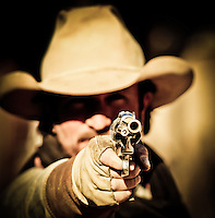 """Yea, my name is Pepper - you got a problem with that?"" - Gunfighter - Old West Reenactor - Goldfield Ghost Town - Arizona (MR)"