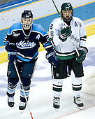 Mike Lundin (University of Maine - Apple Valley, MN), Chris Mueller (Michigan State - West Seneca, NY) - The Michigan State Spartans defeated the University of Maine Black Bears 4-2 in their 2007 Frozen Four semi-final on Thursday, April 5, 2007, at the Scottrade Center in St. Louis, Missouri.