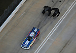 Jan. 21, 2012; Jupiter, FL, USA: Aerial view of NHRA funny car driver Tim Wilkerson during testing at the PRO Winter Warmup at Palm Beach International Raceway. Mandatory Credit: Mark J. Rebilas-