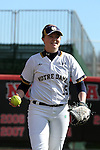 17 February 2017: Notre Dame's Kimmy Sullivan. The Notre Dame Fighting Irish played the University of Minnesota Golden Gophers at Dail Softball Stadium in Raleigh, North Carolina as part of the ACC/Big 10 College Softball Challenge. Minnesota won the game 4-1